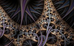 digital art, fractal, 3d, фон