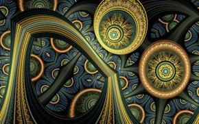 Abstraccin, 3d, fondo, fractal