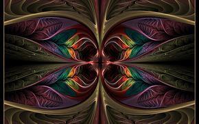 абстракция, 3d, фон, фрактал