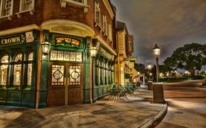 Stati Uniti d'America, Disneyland, California, strada, porta, hdr