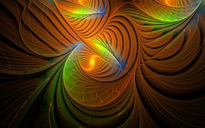 3d, abstraction, fractal