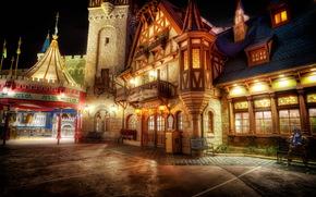 Stati Uniti d'America, Disneyland, casa, California, notte