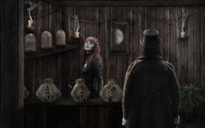 креатив, art, ведьмочка