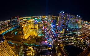 USA, home, Las Vegas, night, from above, horizon