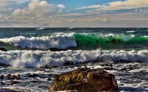 mare, onde, paesaggio