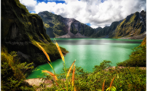 Mountains, lake, nature