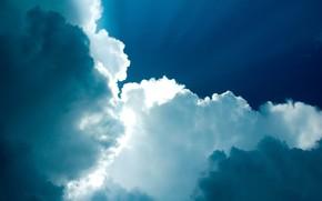 cielo, nuvole, Dio