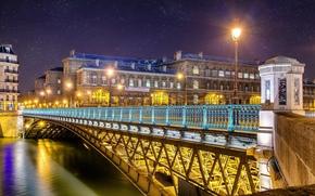 france, Paris, France, Paris, city, night, river, bridge, lights, light, lights, snow, home, building, architecture