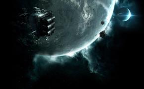 нападение, космос, планеты, энергия
