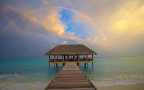 Мальдивы, тропики, пляж