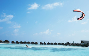 Maldives, tropics, bungalow