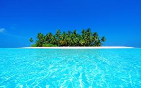 Maldive, tropici, spiaggia, isola