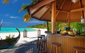 Maldivas, trpicos, playa