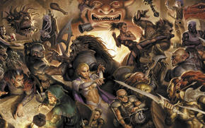 Characters, fantasy, battle