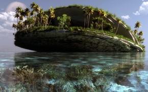 Haiti, Island molluscs klontak, landscape