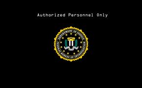 FBI, borne, logotip