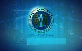 nsa, terminal, logotip