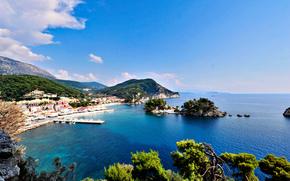 mare, Isole, costa, citt, Grecia