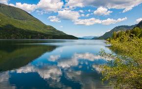 lake, Canada, landscape, Mountains, british columbia