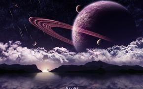 космос, 3d, art