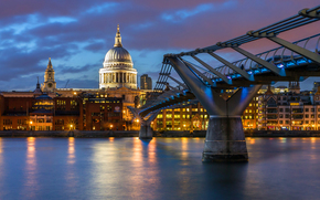 Catedral de San Pablo, Londres, Londres, Inglaterra, Inglaterra, Gran Bretaa, Reino Unido, Ciudad, tarde, luz de fondo, iluminacin, casa,