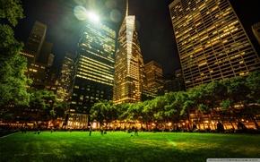 Парк, нью йорк,