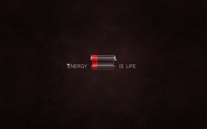 batera, vida, fondo, energa.