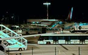 aviation, city, technique