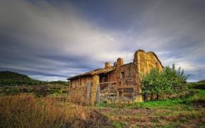 Spagna, edificio abbandonato, paesaggio