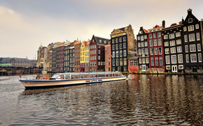 Amsterdam, the capital of the Netherlands, city