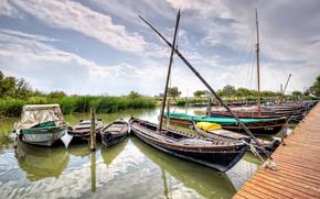 valencia, испания, река, лодки