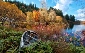 秋天, 湖, 船, 性质