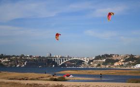 португалия, город, река, мост