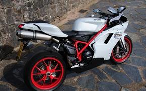 Ducati, 848, Ducati, motorcycle, stones, tile, cars, machinery, Car