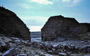 руины, камни, море