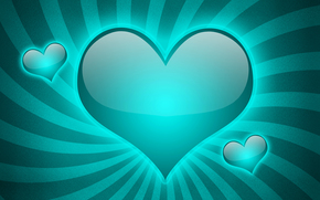 cuore, astrazione, 3d