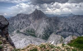 Montagne, nuvole, paesaggio