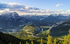 banff national park, alberta, canada, Банф, Альберта, Канада, горы