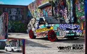 tunning, Graffiti, Auto, Abstraktion, vornysydesign, RANGEROVER, Reichweite