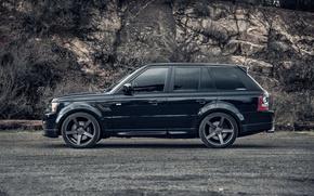 Range Rover, nero, macchinario, auto, macchinario, Auto