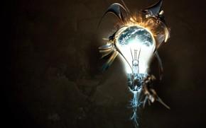 лампа, фантазия, цвет