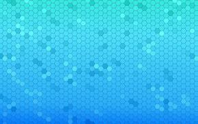 panal, mosaico, azul
