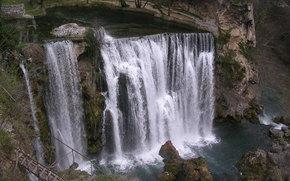 cascata, fiume, discesa, traccia, paesaggio