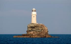 tourlitis faro, isola di Andros, Grecia, Andros Island, Grecia, Mar Egeo, faro