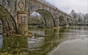 мост, река, лодка