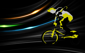 Sport, graphics, vector, bicyclist, bicycle