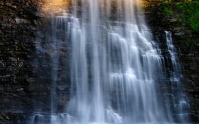 瀑布, 岩石, 流