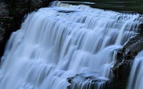 cascata, ruscello, Rocks