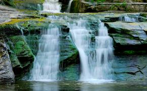 cascata, Rocks, ruscello