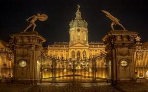 Zamek Charlottenburg, Berlin, noc